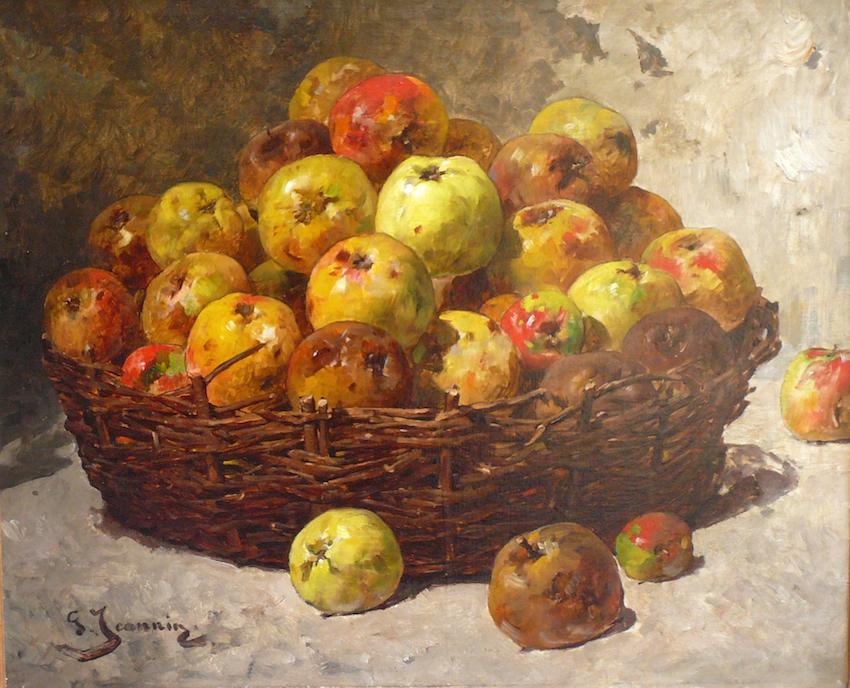 """""""Stilleben mit Äpfeln""""  Öl auf Leinwand, 61 x 73 cm, signiert"""