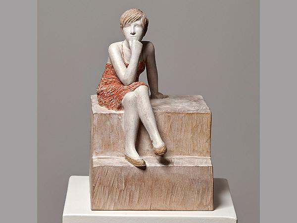 """""""Gerti"""", 2013 Holzskulptur, ca. 40 cm, signiert und datiert"""